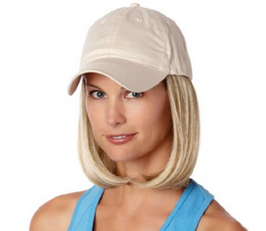 Baseball Cap with Hair